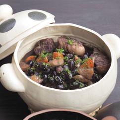 黒豆と牛肉のシチュー