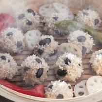 黒豆ともち米の焼売