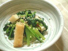 小松菜と平てんの煮びたし