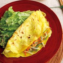 ベトナム風お好み焼きバインセオ