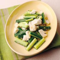 きゅうりと豆腐のチャイニーズしょうが炒め