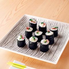 青菜と梅の細巻き寿司