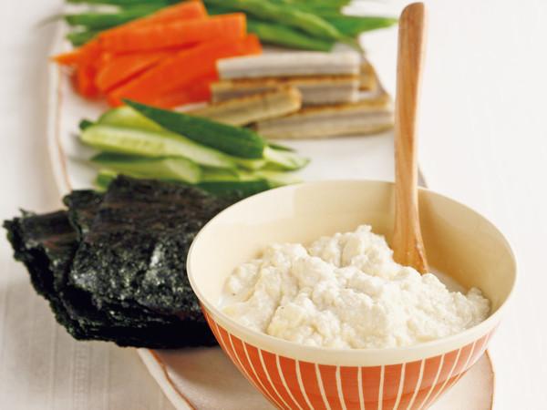 手巻き豆腐サラダ