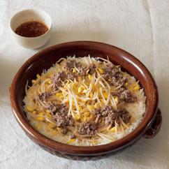 牛ひき肉と豆もやしの炊き込みごはん