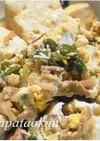 豆腐、ニラの卵とじ