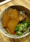 鯖の味噌煮缶と冬瓜で簡単煮物