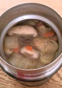 スープジャー 具だくさんの中華風卵スープ