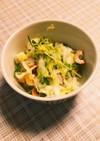 白菜と豆苗のサラダ