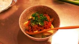 納豆腐キムチのヘルシー丼♪