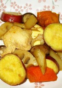 鶏と根菜のココナッツ甘酢煮