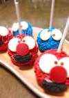 エルモ&クッキーモンスター☆ケーキポップ