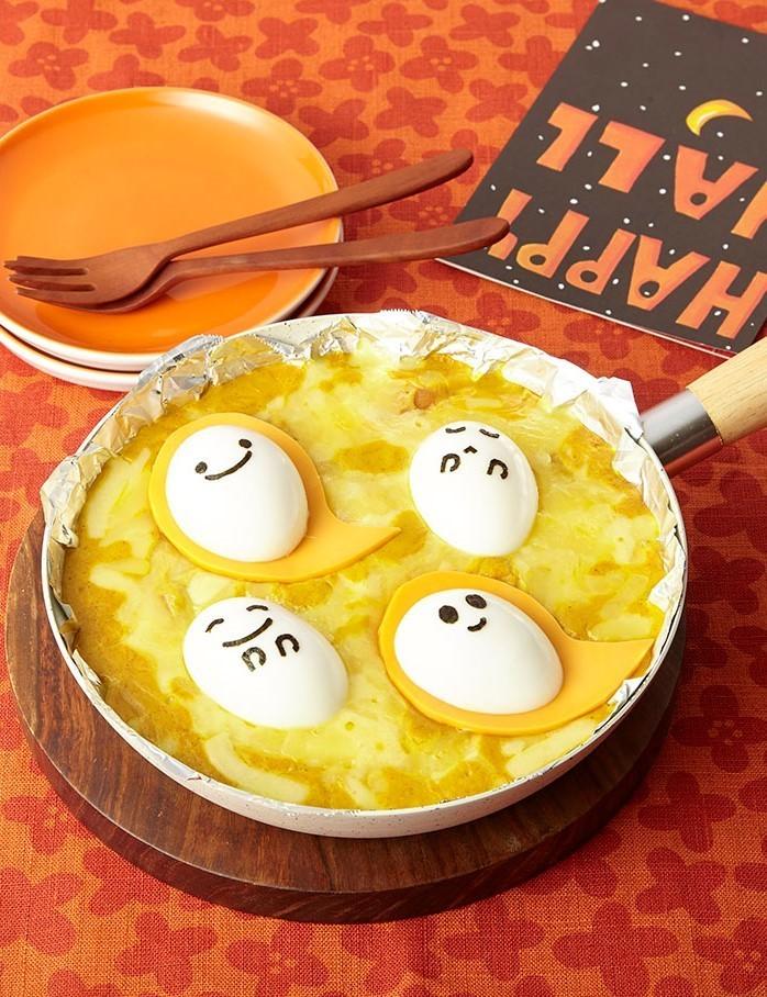 ハロウィン★かぼちゃのフライパングラタン