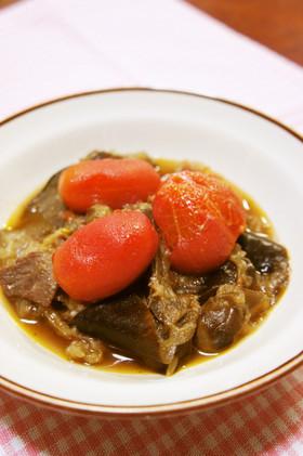 トマトがごろり☆簡単♡茄子の洋風煮込み