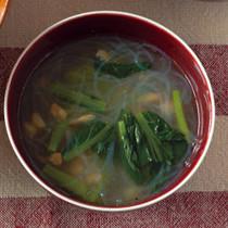 春雨と干しエビの中華スープ