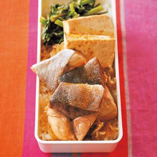 ぶりのすき煮弁当