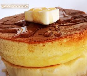 ふわっふわパンケーキ♡炭酸HM卵だけ簡単