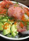 好きなもののっけ海鮮丼!