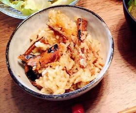 簡単!さんま蒲焼缶と梅干しの炊き込みご飯