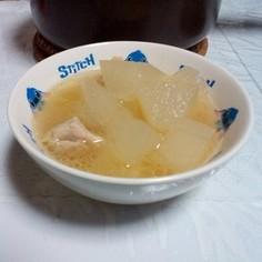 鍋だけで簡単ヘルシー冬瓜おかずスープ