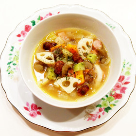 素材を楽しむ♪ 根菜たっぷりスープ☆
