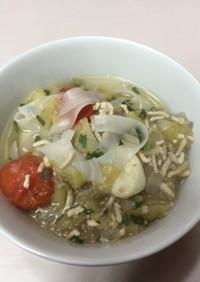 イミダペプチド補給に、タイ風鶏麺
