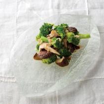 ブロッコリーと焼きしいたけのサラダ