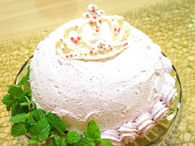 分量簡単で豪華♡2層のレアチーズケーキ