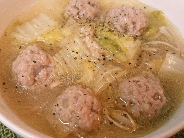 白菜トロッ⭐春雨と肉団子スープ