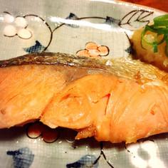 フライパンで手軽☆鮭のポン酢焼き