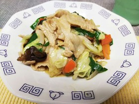 柔らか豚バラ肉の肉野菜炒め