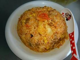 豚キムチ納豆チャーハン