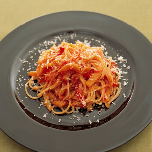 ペペロナータのスパゲッティーニ