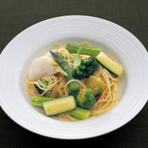 いろいろ野菜のペペロンチーノ