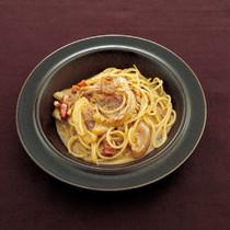 全卵で作る カルボナーラのスパゲッティーニ