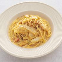 生クリーム入り カルボナーラのスパゲッティーニ