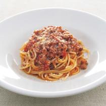 ミートソースのスパゲッティーニ