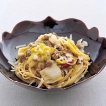 合鴨肉の煮込みのスパゲッティーニ