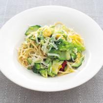 くたくた青野菜のスパゲッティーニ