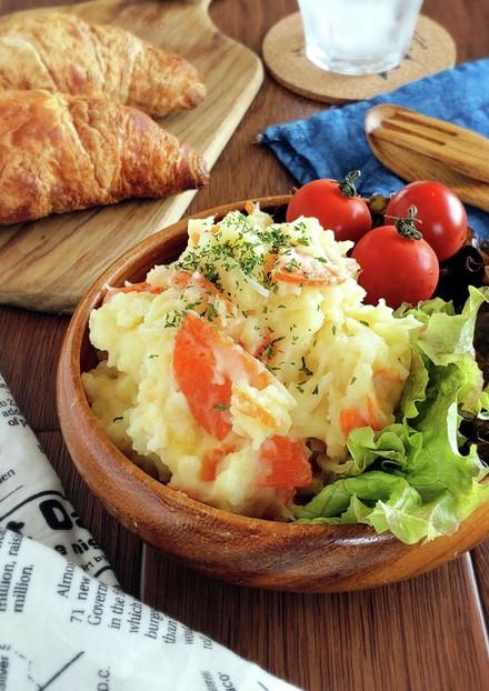 レンジで簡単☆マヨなしポテトサラダ。