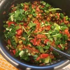 燃焼系◎緑レンズ豆のサラダ(トルコ)