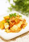 ❀キムチと柿とクリームチーズの和え物❀