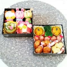 幼稚園運動会♡娘と2人の可愛いお弁当♡