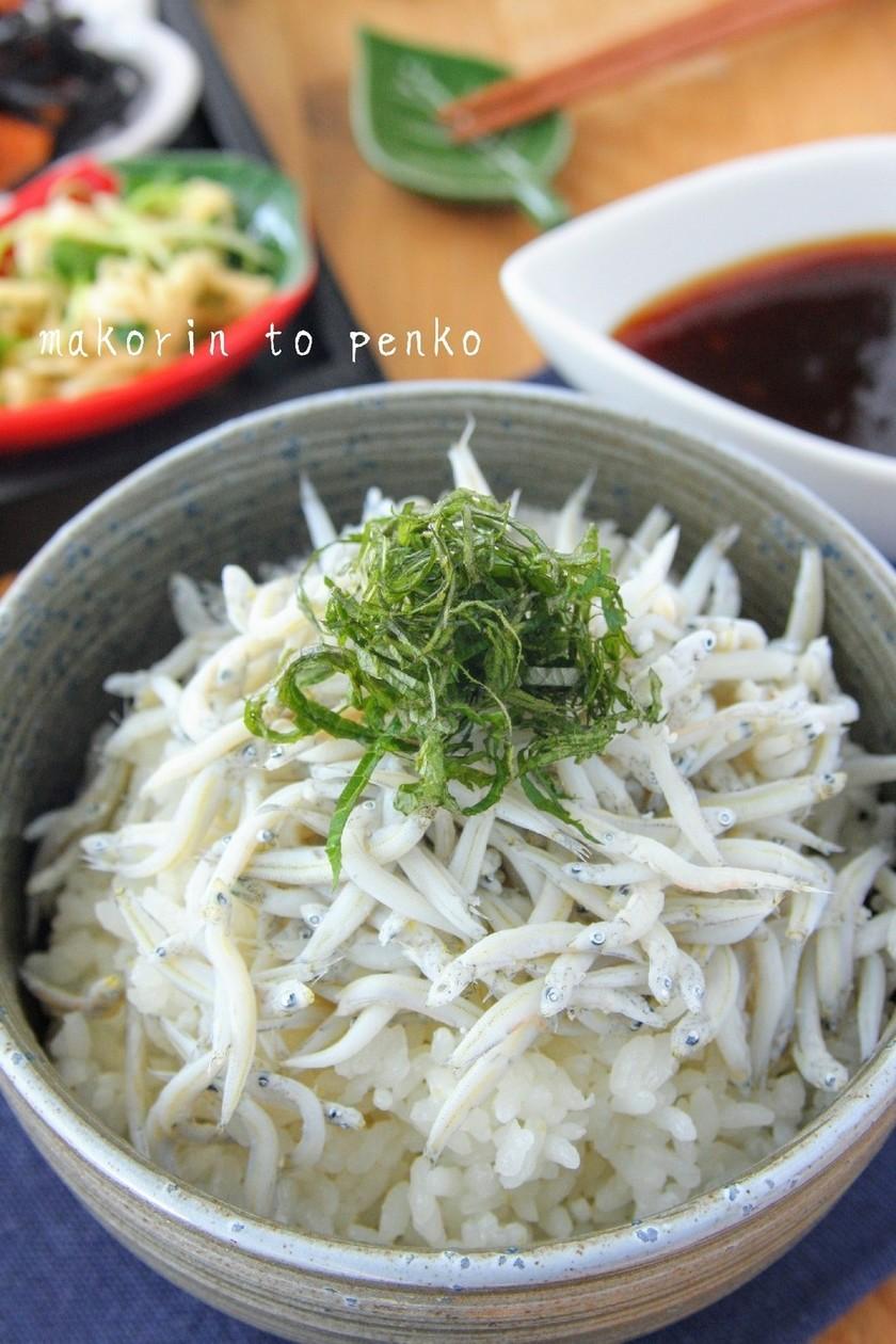 レンジで簡単!生姜タレが美味*しらす丼