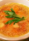 エビとセロリのコンソメスープ