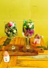 盛り付け簡単!水菜とレタスのサラダパフェ