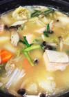 温まる♪  鮭の味噌鍋