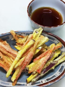 がね(さつま芋と人参の天ぷら)