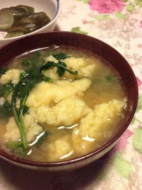 【母レシピ】鍋の残り物で卵すいとん