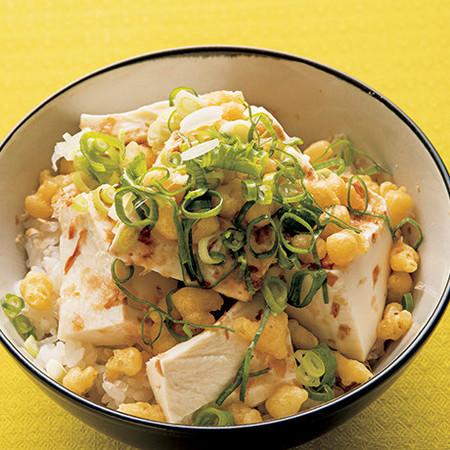豆腐ぶっかけ飯