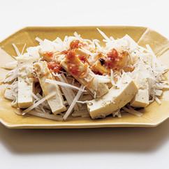 豆腐の梅じゃこサラダ